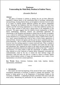 Research paper fashion